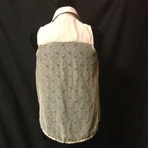 Tan Wet Seal Sheer Sleeveless Shirt
